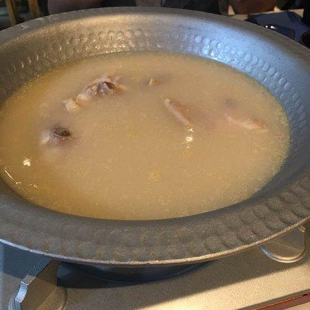 雪白的雞湯