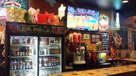 Bar side, still plenty of holiday decorations