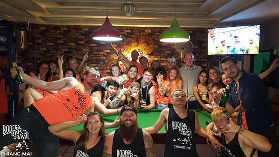the largest pub crawl in Chiang Mai