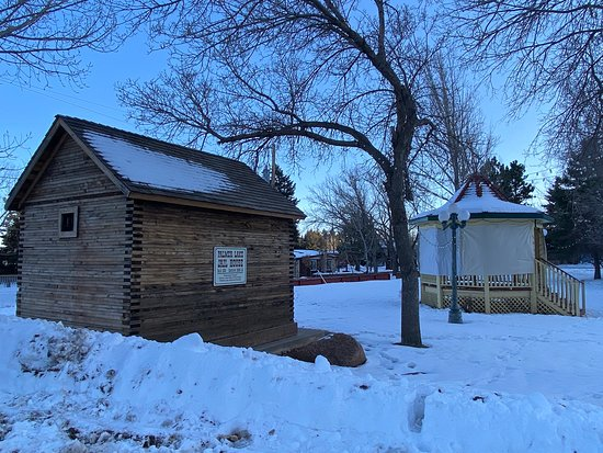 The quaint little town of Palmer Lake has this Jail House built in 1838 next to the Gazebo...