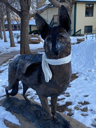 Palmer Lake, Колорадо: A Statute to Dizzy, the Dog who carried tools & supplies to the people who helped erect the 500-foot Star of Bethlehem on Sundance Mountain.
