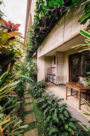 Balcony Garden View in One Bedroom Standard Twin