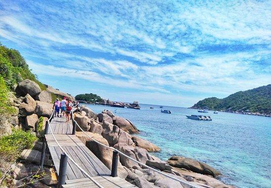 Koh Tao et Koh Nang Yuan Excursion en bateau à moteur depuis Koh Samui : On our way to a lovely place...