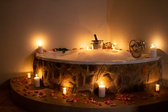Romantic turn-down for a honeymoon couple