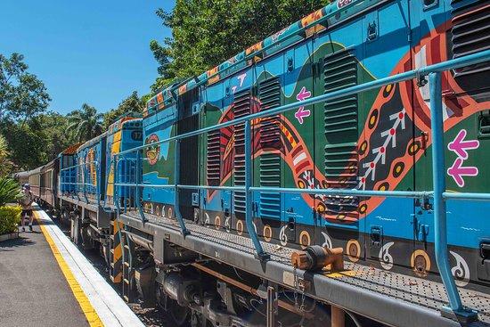 Colorful engines on the Kuranda Scenic Railway. (AlpinerHut)