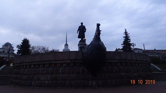 Памятник Афанасию Никитину в Твери (19 октября 2019 года)