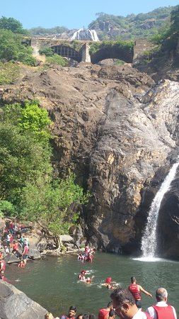 View of Dudhsagar Waterfall From Actual Waterfall Spot
