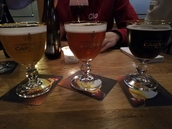you can taste 3 different beers for 5.50 euros
