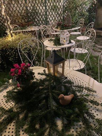 Décoration du jardin pendant la période de Noël.