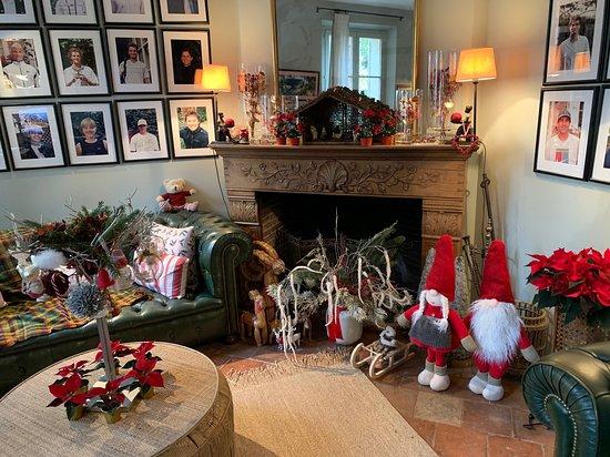 La réception pendant la période de Noël.