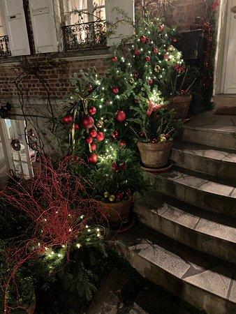 Décoration extérieure pendant la période de Noël.