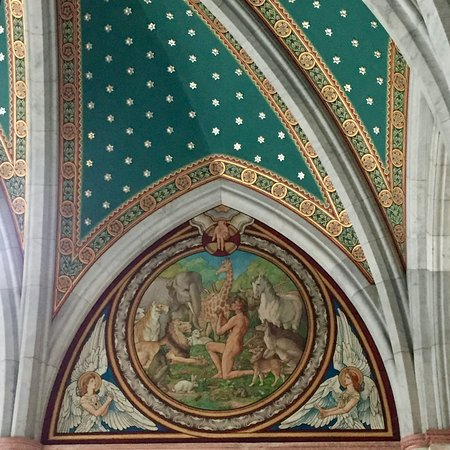 Mount Stuart: The Marble Staircase, Final panel from the Days of Creation by H W Lonsdale