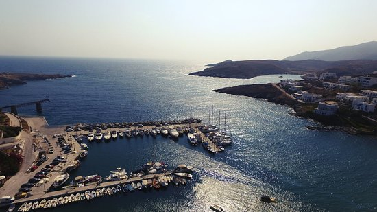 Panoramic view from the Greek harbor