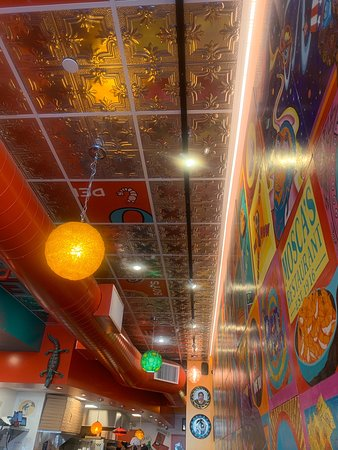 It's very colorful and beautiful place!  Clean, tasty, fresh, friendly, Warm and not to pricey!