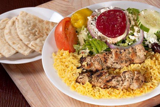 Chicken Skewers Light Meal