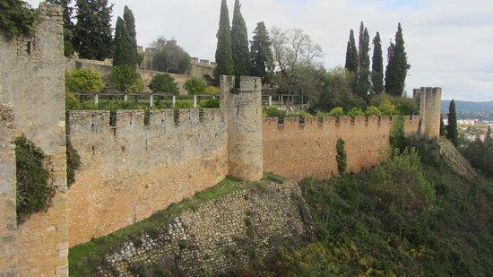 The Castle Walls of the Convento de Cristo, Tomar, Portugal.