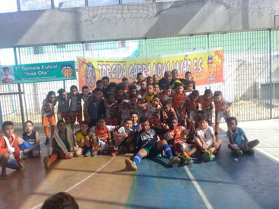 Escolinha nova União futsal. Professor Edson