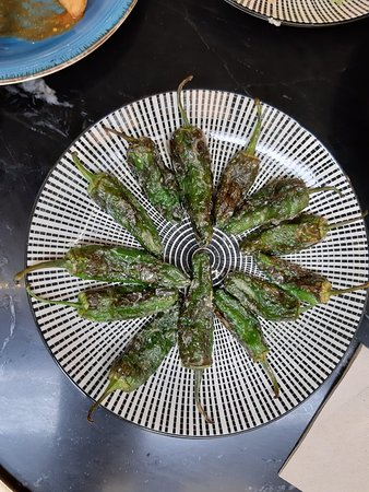 Yummy pimientos de padron - watch out for the spicy ones!