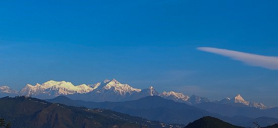 Kanchenjunga from resort balcony