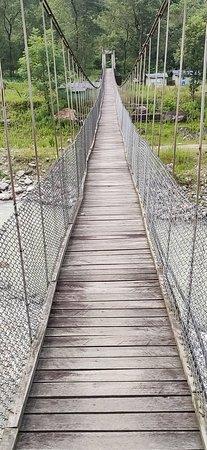 Gailam hanging bridge on the way to Samthar.