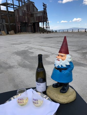 The Roaming Gnome came on the tour for a little wine.