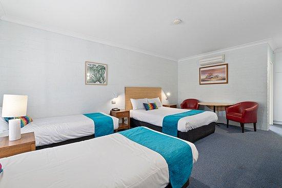 1 Queen Bed 2 Single Bed Room