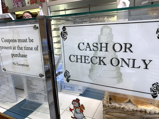 House of Cakes: yep, cash or checks - no credit cards