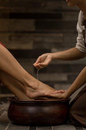 Foot bath at Ruby Spa