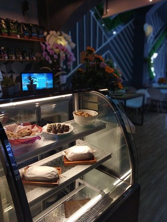 Delicious cakes and bread go great with their freshly brewed coffee