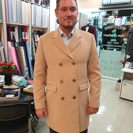 Best and happy customers from Finland. Custom cashmere coats made  @samboutiquetailors. Once your order placed we will keep all your final perfect measurements to our records to make you more efficient to order more products in the future. Call now for a free pick-up service anywhere in Phuket. Welcome to Sam Boutique Tailors Phuket.