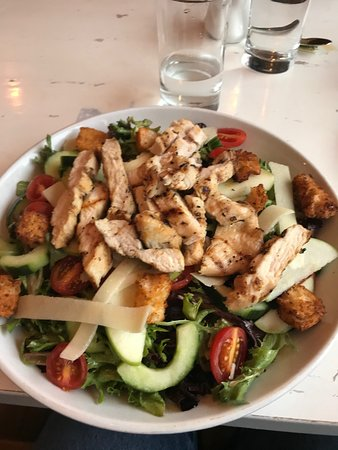 big salad with chicken