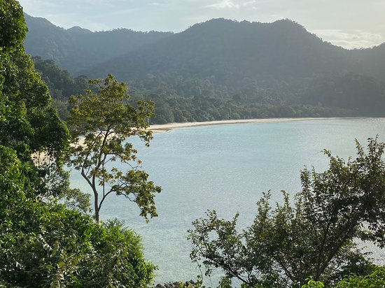 View from The Andaman's spa to Datai beach.