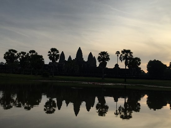 Angkor wat sunrise and Banteay Srei temple Private Day tour: Angkor Wat (taken by Chen on my iPhone)