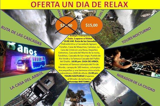PAILON DEL DIABLO & RUTA DE LAS CASCADAS, CASA DEL ARBOL Y TOURS NOCTURNO UN DIA EN BAÑOS