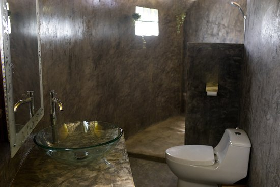 Queen Room and Shared Round House have an attached bathroom