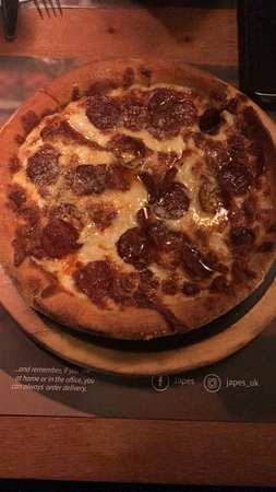Carbonara Deep Dish Pizza With The Added Pepperoni 2 Extra