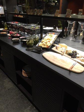 Breakfast Buffet:  Variety of fresh fruit and cheeses. Yum!
