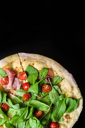 pizza's dough based on beer