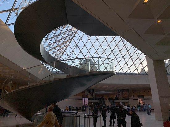 Le Louvre vu de l'intérieur.