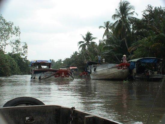 """Cai Be Floating Market"", Cai Be, Mekong deltaet, Vietnam - vakkert, stille og fredelig"