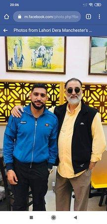 World renowned Amir Khan visiting us at Lahori Dera