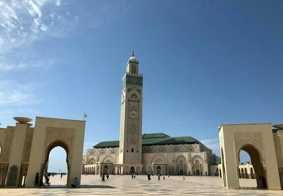 Hassan II mosque ( in Casablanca city  )