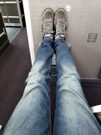 American Airlines: upgraded to premium economy