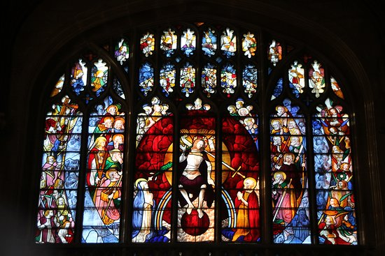 291119 St Mary's Fairford Window 15 - the west one; the last judgment