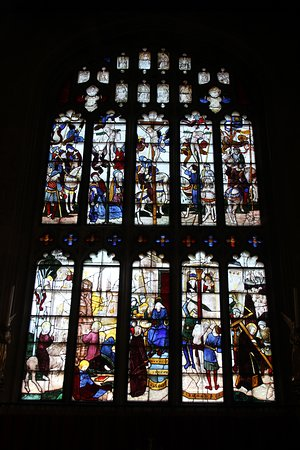 291119 St Mary's Fairford Window 5 - the east one; the crucifixion
