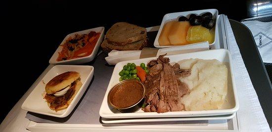 طيران إل عال الإسرائيلية: Hideous food.