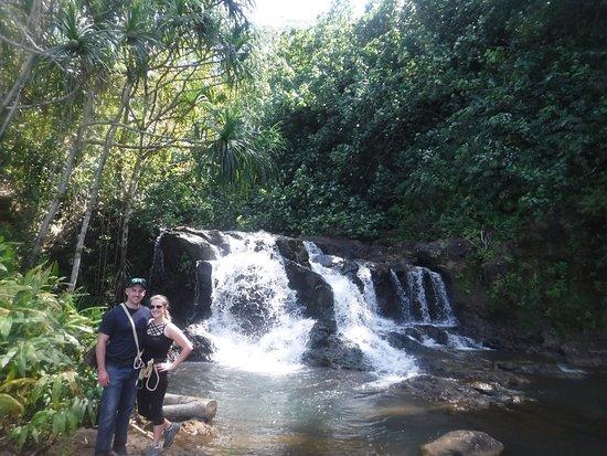 Above the main waterfall