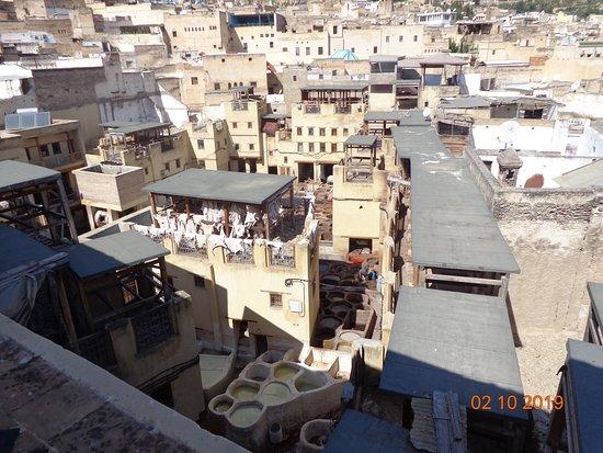 Medina de Fez - Curtume - poços para curtir e tingir os couros