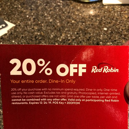 #redrobin coupon is a SCAM