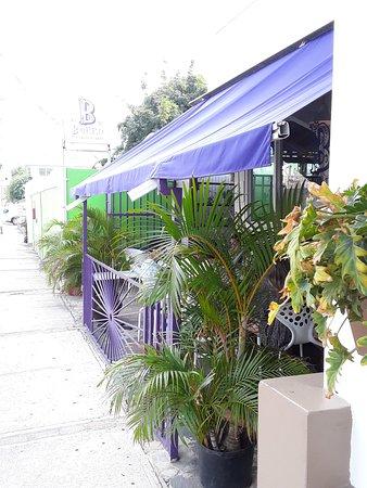 Street side of restaurant
